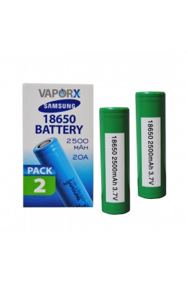 SAMSUNG 25R 18650 BATTERY - 2PCK